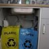 Nostalgie - koše na třídění odpadu