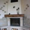 Luxury - krb se zásobou dřeva, starožitný lustr